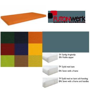 Överdrag till futonwerks futonmadrasser i miljövänlig bomull