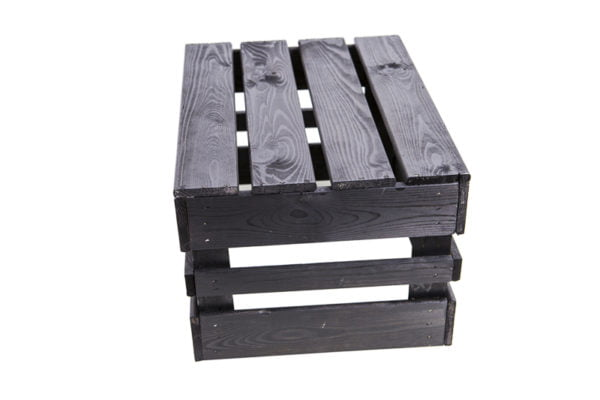 Äppellåda svart lackbetsad 30 x 40,5 cm