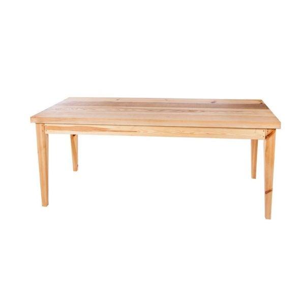 Matbord i fyra träslag
